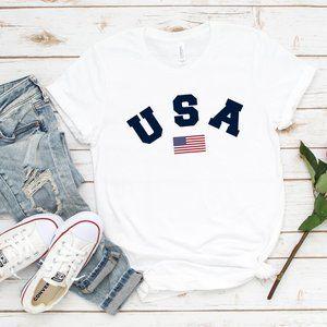 🔥 USA American Flag Unisex Graphic T Shirt - NEW